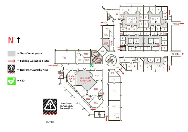 Johnson County Community College Campus Map.Johnson County Community College Map Physical Map