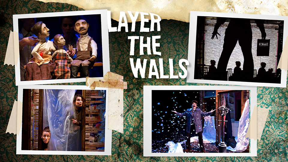 Photo collage of scenes from 'Layer the Walls.'