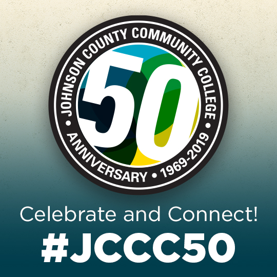 "50th anniversary logo with the words Celebrate and Connect #JCCC50""C"
