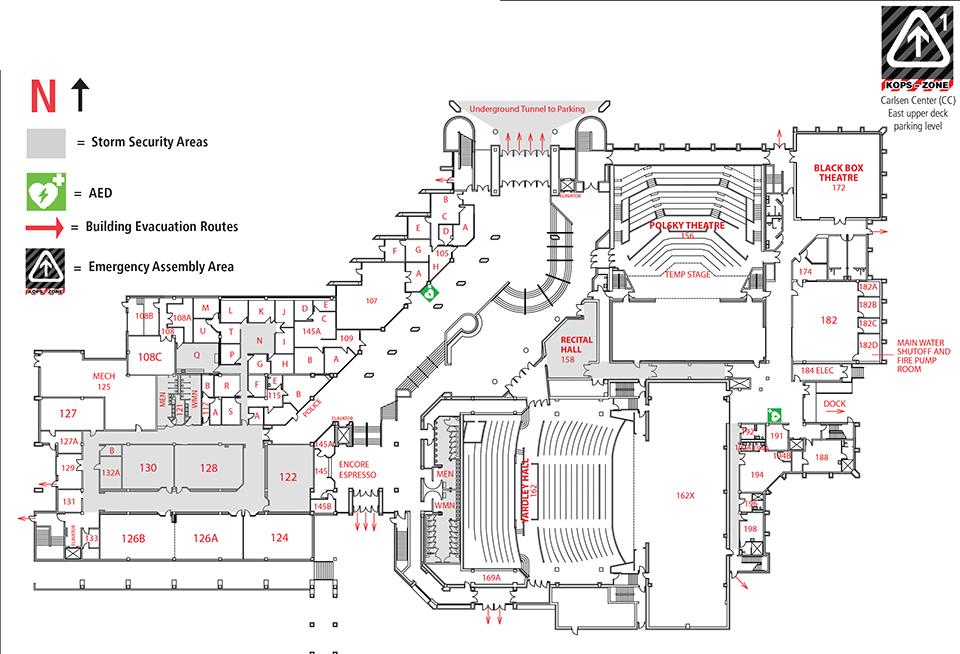 carlsen center building map cc
