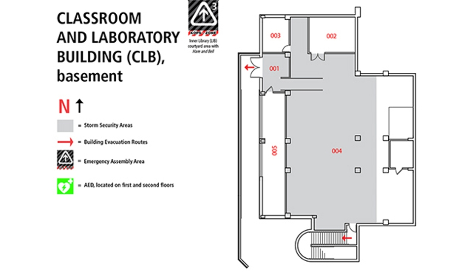 Classroom Laboratory Building Map Clb