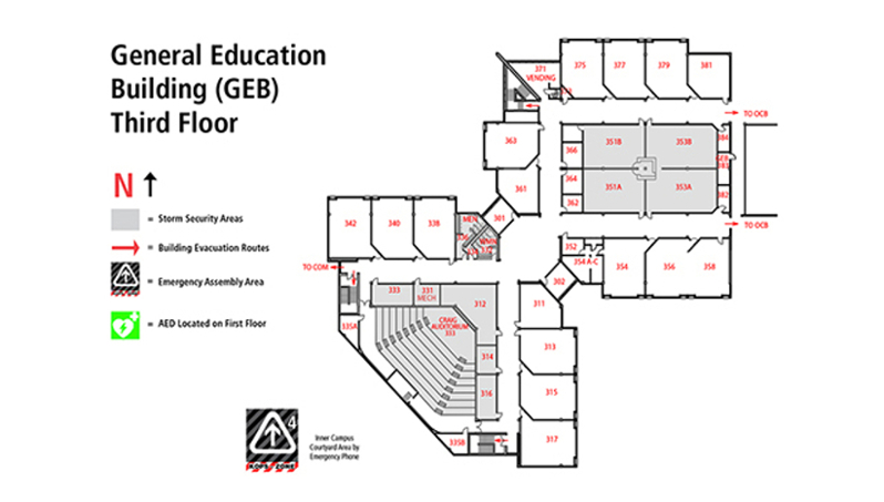 General Education Building Map Geb
