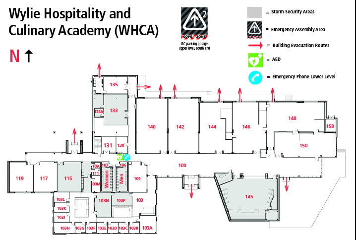 Wylie Hospitality And Culinary Academy Building Map Whca
