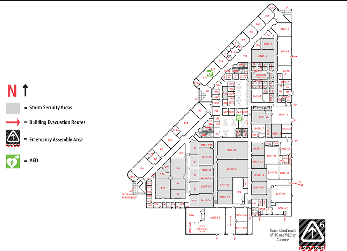 Industrial training center building map itc for Emergency room design floor plan