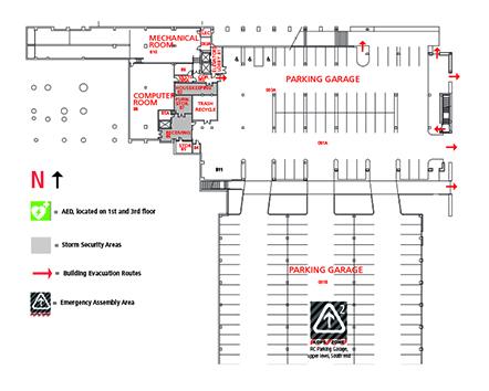 Regnier Center Building Map Rc