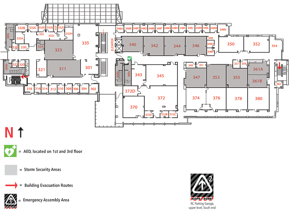 Cpcc Main Campus Map.Regnier Center Building Map Rc