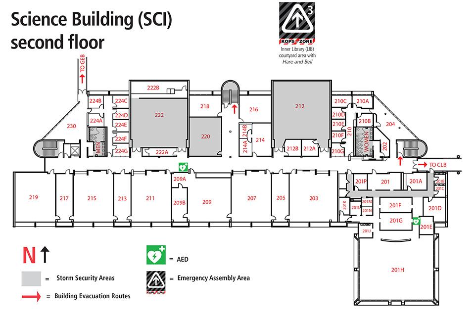 Science building map sci for Floor plan mapper