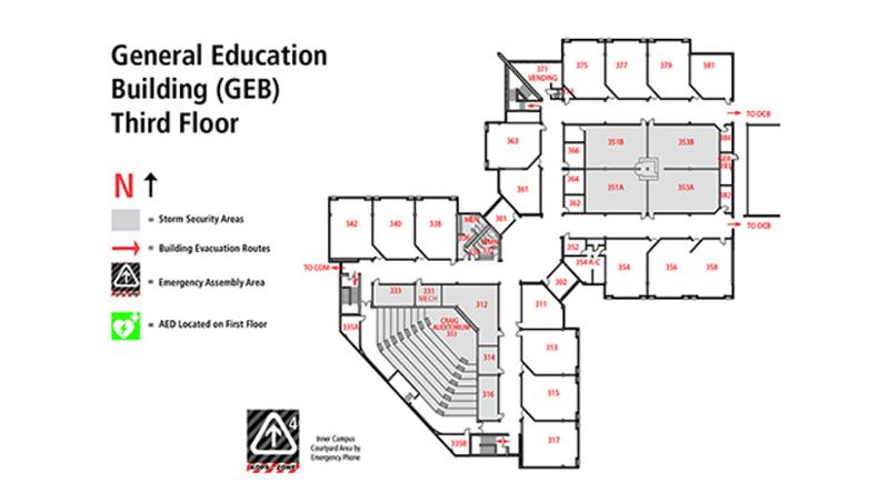 Floor plan GEB 3rd floor